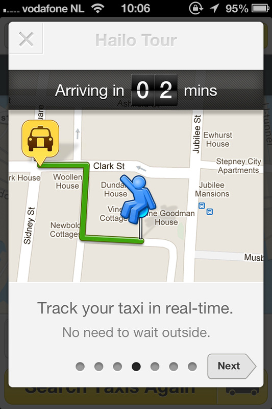 Hailo taxi app: excellent guided tour